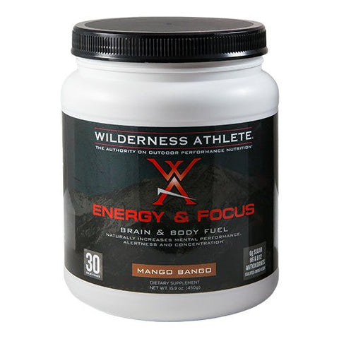 Wilderness Athlete Energy and Focus Tub, Mango Bango, 15.9 Ounce