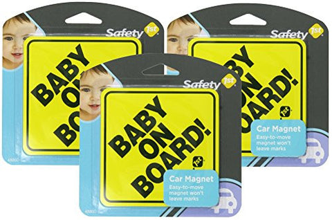 Safety 1st Baby On Board Magnet Yellow Carded