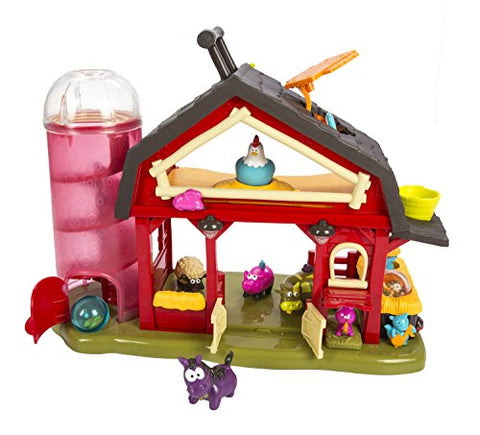 B. Baa-Baa-Barn Farm House – Phthalate and BPA Free – Moving Windmill with Animal Sound Effects – 7 Animal Figures Including Cow, Pig, Sheep, Horse, and More! – For Ages 2 and Up