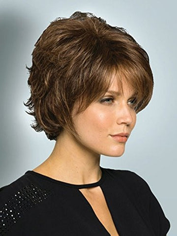 B-G Charming Hair Wigs New Fashion Women Wig Short Brown Hair Wigs Party Cosplay Wig with Wig Cap WIG022B