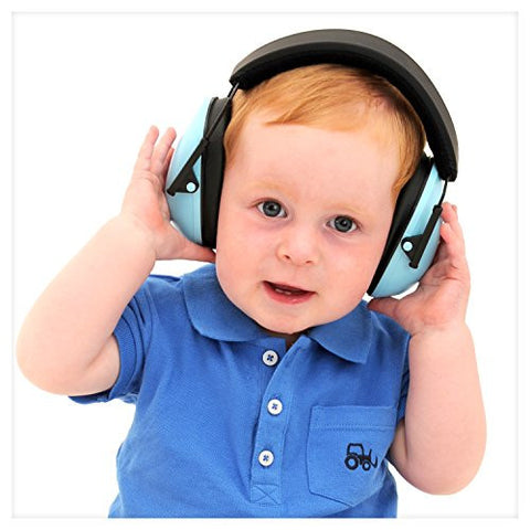 My Happy Tot Hearing Protection Earmuffs. Noise Reduction for Children & Infants, Fully Adjustable for 0-12 Yrs. Low Profile Cups, Padded 'Snug Fit' Professional Hearing Defenders for Kids