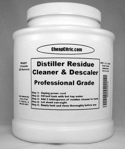 Distiller Residue Cleaner & Descaler-5 Pounds!