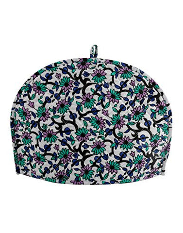 Decorative Tea Cozy Traditional Floral Printed Cotton White Tea Cosy By Rajrang