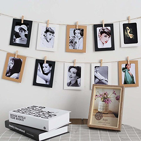iPhyhe Paper Photo Frame Set For Fujifilm Instax Polaroid mini 8, mini 7S, mini 25, mini 50S, mini 90 instant camera Films (Brown Paper)