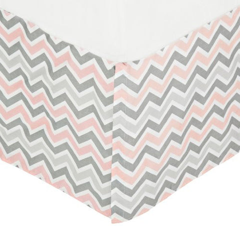 American Baby Company 100% Cotton Tailored Crib Skirt with Pleat, Pink