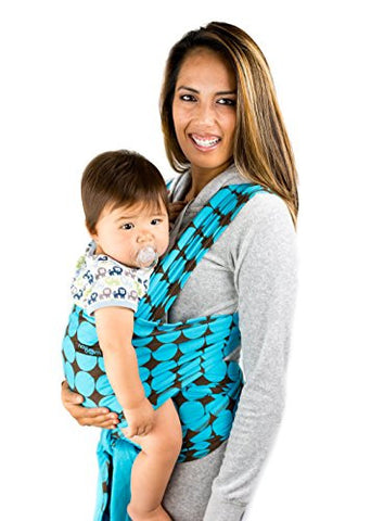 Baby Wrap Sling with Blue Polka Dot Pattern -100% Cotton Safe & Comfortable Quality Material