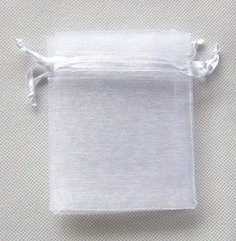 ATCG 8x12 20x30cm Drawstring Organza Pouch Strong Wedding Favor Gift Candy Bag (pcs) White