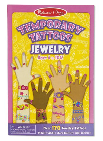 Melissa & Doug Temporary Tattoos: Jewelry - 130+ Kid-Friendly Tattoos