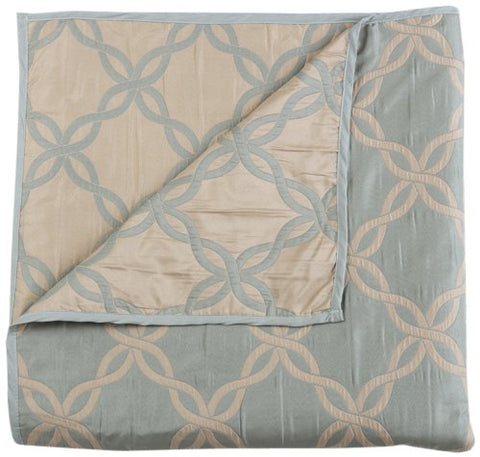 Stylemaster Home Products Renaissance Home Fashion Belmont Reversible Bedspread, Twin, Sea Spray