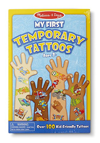 Melissa & Doug My First Temporary Tattoos: Adventure, Creatures, Sports, and More - 100+ Kid-Friendly Tattoos