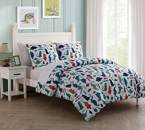 7 Pc, Dinosuar, Full Size Bedding, Comforter Set, By Karalai Bedding Collection