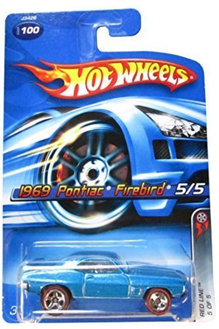 Red Line Series #5 1969 Pontiac Firebird Blue #2006-100 Collectible Collector Car Mattel Hot Wheels 1:64 Scale