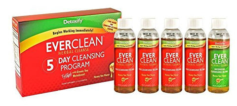 Detoxify Detox Ever Clean Herbal Cleanse 5 Day Cleansing Program-5, 4 fl oz bottles