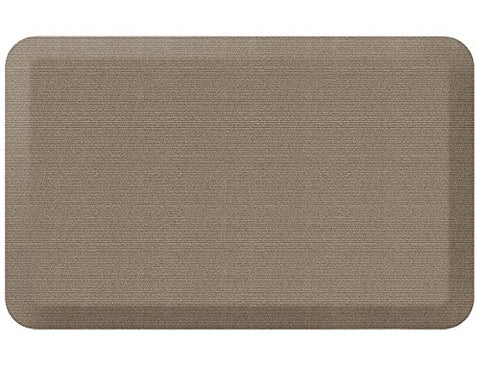 NewLife by GelPro Anti-Fatigue Designer Comfort Kitchen Floor Mat, 20x32, Grasscloth Pecan Stain Resistant Surface with 3/4 Thick Ergo-foam Core for Health and Wellness