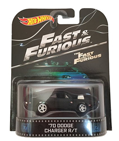 '70 Dodge Charger R/T Fast & Furious Hot Wheels 2015 Retro Series 1/64 Die Cast Vehicle