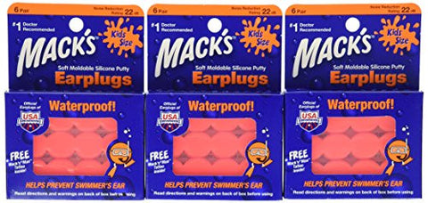 Mack's Pillow Soft Earplugs, Hot Orange, Kid Size