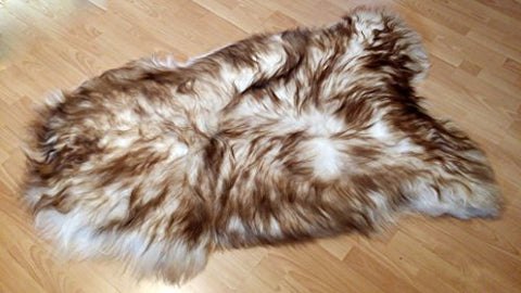 Biggest | Soft and Silky | Icelandic Sheepskin Rug | (Dyed S 40 )