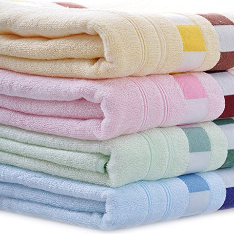 Moolecole 4-Pack: 27inches x 55inches Bamboo Fiber Extra-Absorbent Bath Towels