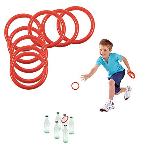 Toy Cubby's Ring Toss Ring-a-bottle Game Set, 2.5 Inches, 12 Pcs