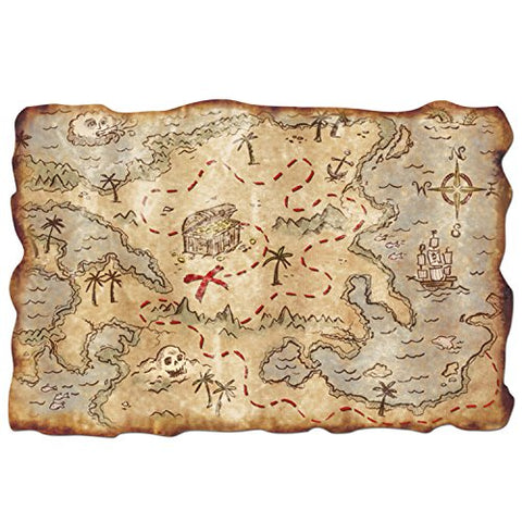 Plastic Treasure Map Party Accessory (Value 3-Pack)