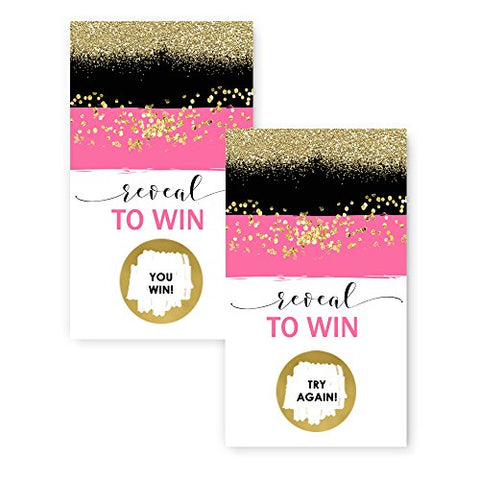 Gorgeous Pink & Gold Scratch Off Game Card (28 pc.) Mod Party