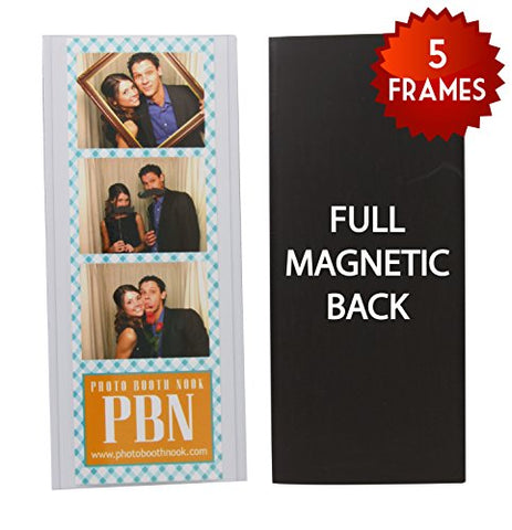 5 Vinyl Magnetic Photo Booth Frames 2 x6