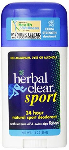 Herbal Clear Sport Deodorant Stick 1.80 Ounces