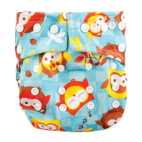 Bumkins Snap-in-One Cloth Diaper, Owls