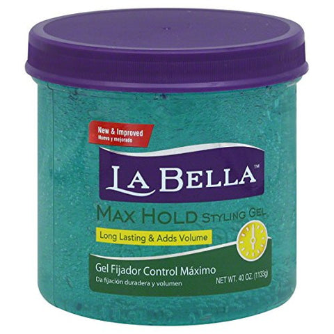 La Bella Styling Gel Max Hold and Volume Green, 40 Ounce