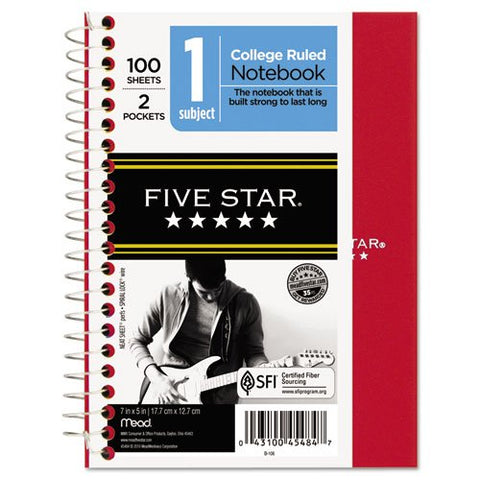 Five Star 45484 5 X 7 College Ruled Wirebound Personal Notebook Assorted