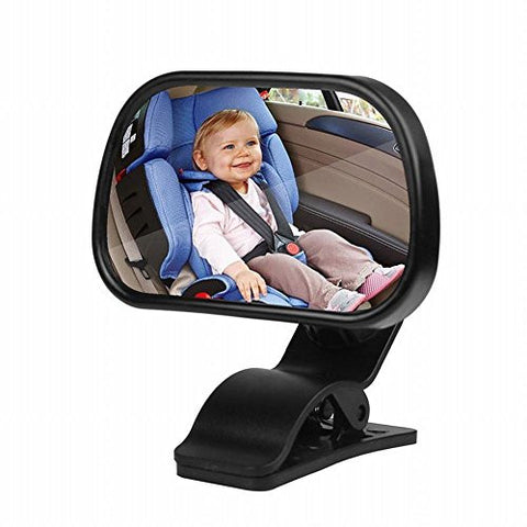 Powstro Rear View Baby Mirror, Car Child Baby View Mirror Adjustable Front View Mirror Safety Wide View Angle