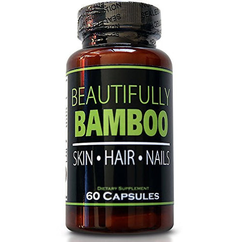 Beautifully Bamboo Ultra Vitamin for Skin, Hair, and Nail Growth. Enriched with Biotin, Bamboo Silica, Amino Acids and more (60 capsules)