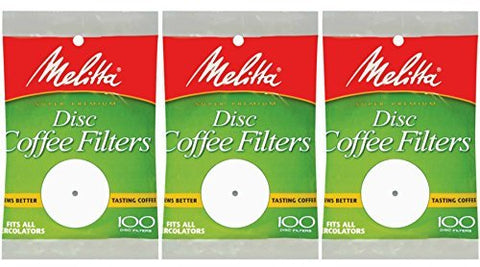 White Disc Coffee Filter, 100 Count