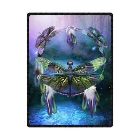 HommomH 50  x 80  Blanket Comfort Warmth Soft Cozy Air conditioning Easy Care Machine Wash Dream Catcher Spirit Of The Dragonfly
