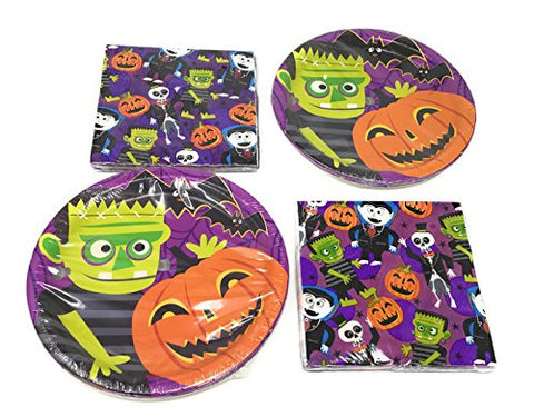 Halloween Party Supplies Papers Plates And Party Napkins Set