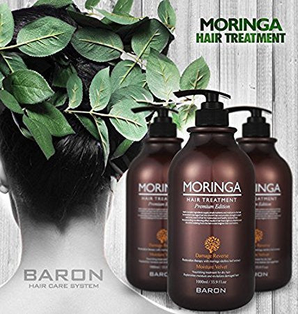 [BARON] MORINGA Hair Treatment Premium Edition 1000ml 33.9 fl oz - For Dry and Damaged Hair
