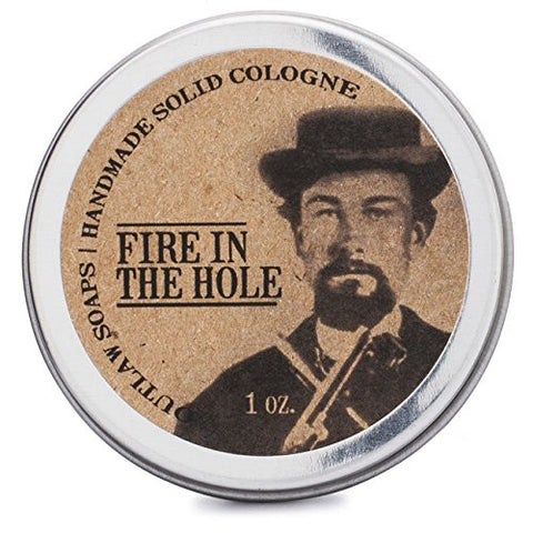 Fire in the Hole Campfire Solid Cologne - Cologne that smells like you just came back from camping