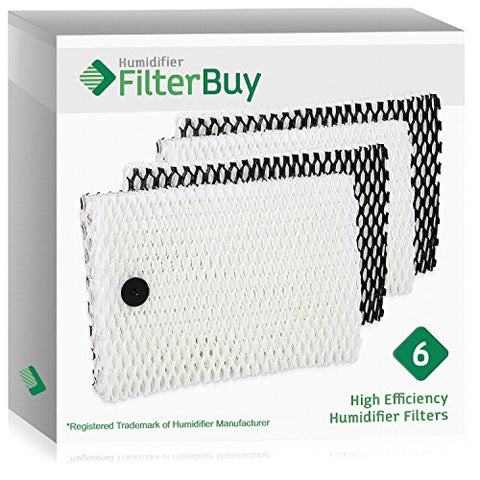 6 - Holmes Type  E  HWF100, Bionaire BWF100 Humidifier Replacement Filters. Designed by FilterBuy to fit HM630, HM729G, HM7203, HM7203RV, HM7204, HM7808, HM7305, HM730RC, HM7306RC, HM7405 & HM7405RC.