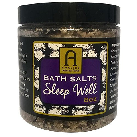 BATH SALTS SLEEP WELL, Perfect for the Tired and Exhausted, Unique ORGANIC FRENCH Sea Salt, For an Exceptional Night's Rest, Relaxation and Recovery, Pamper Yourself, Bring Out Your Natural Beauty
