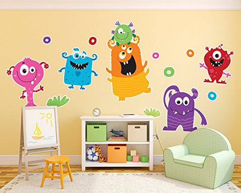 Aliens and Monsters Room Decor - Giant Wall Decals