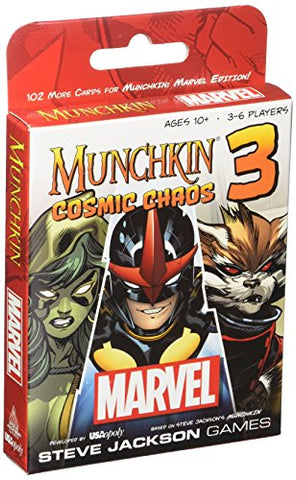 Munchkin Marvel 3 Cosmic Chaos Steve Jackson Expansion Card Game USAopoly