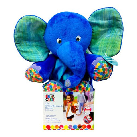 Eric Carle Backpack Harness, Elephant, Polyester, Elephant Backpack, Children's Backpack, Blue