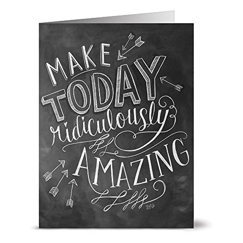 Ridiculously Amazing - 36 Chalkboard Note Cards - Blank Cards - Kraft Envelopes Included