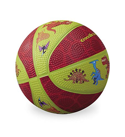 Crocodile Creek Dinosaurs Kid-Sized Basketball, Lime Green/Red, 5.5