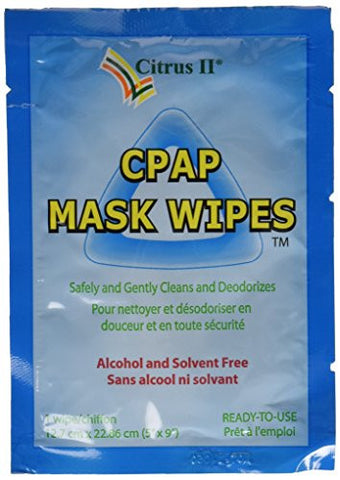 Citrus II Travel CPAP Mask Wipes, 12 Wipes