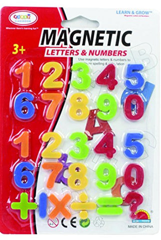 First Classroom Magnetic Numbers & Symbols in a Blister Card, 1
