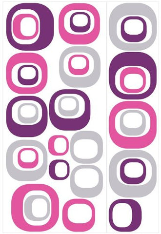 RoomMates RMK1343GM Modern Ovals Peel & Stick Wall Decals