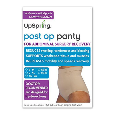 Post Op Panty High Waist: Compression Only (No Silicone) (L/XL, Black)