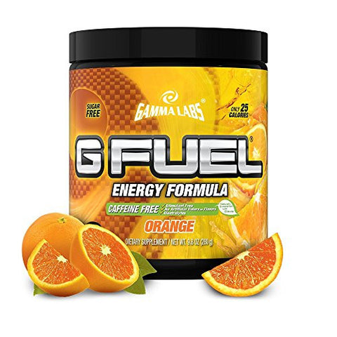 Gamma Labs G Fuel Orange Caffeine Free Version, Orange, 300 Grams 40 Servings