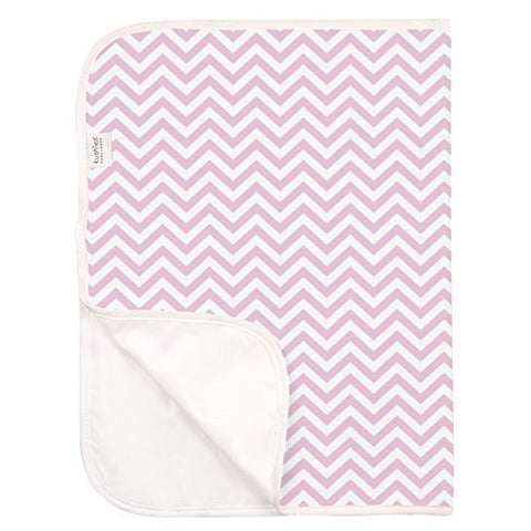 Kushies Deluxe Waterproof Changing Pad, Terry Pink Chevron